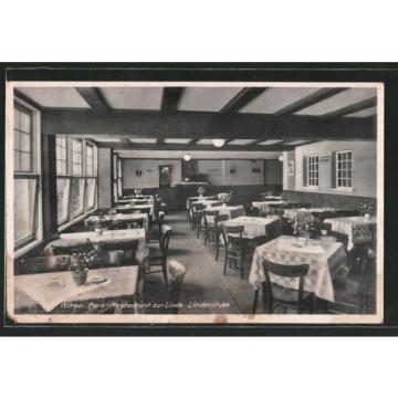 schöne AK Witten, Park-Restaurant zur Linde, Lindenstube 1942