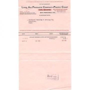 1920 Billhead San Francisco Linde Air Products