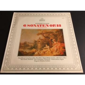 Vivaldi 6 Sonaten Il Pastor Fido Hans-Martin Linde Eduard Melkus Alfred Sous LP