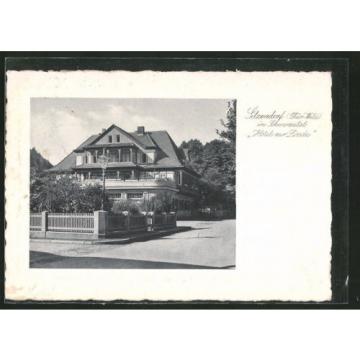 alte Präge-AK Sitzendorf, Hotel zur Linde 1935