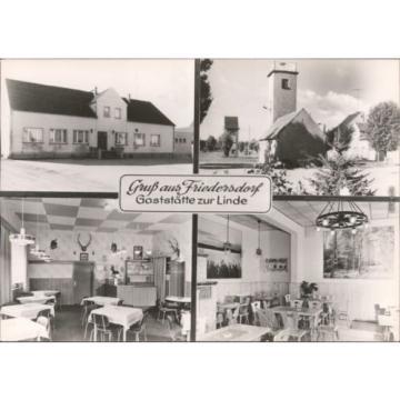 Friedersdorf Rückersdorf Gaststätten zur Linde -Innen mit Gästebereich 1986