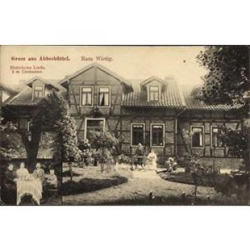 Ak Abbesbüttel Meine Niedersachsen, Haus Wietig, Historische Linde - 1229903
