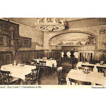16547 AK Historischer Gasthof Zur Linde Geisenheim Denkenleuchter Bild um1920