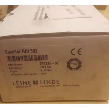 Leine & Linde Encoder RHI 593 753236-02 9..30Vdc 1024 ppr HTL