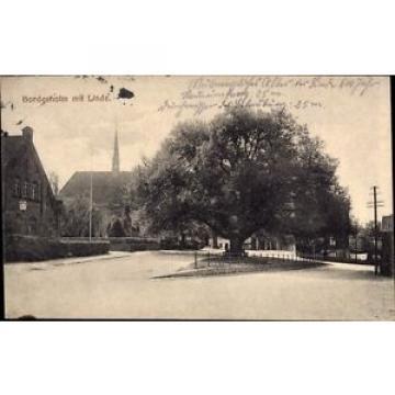 Ak Bordesholm in Schleswig Holstein, Straßenpartie mit Linde und Kirche - 933398