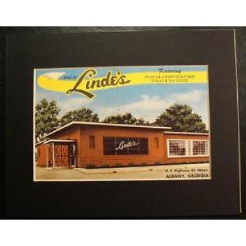 DINE AT LINDE'S, U.S. HIGHWAY 82, ALBANY, GEORGIA, GA., Print