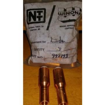 2 NOS ESAB Linde #8 MIG Nozzle Copper 998893 No. 8 for ST-23 and ST-23A Mig Gun