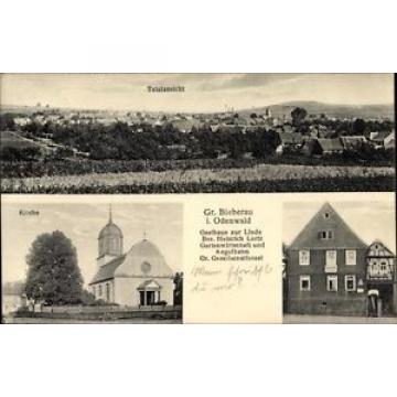 Ak Groß Bieberau im Odenwald Hessen, Gasthaus zur Linde, Bes.... - 1602164