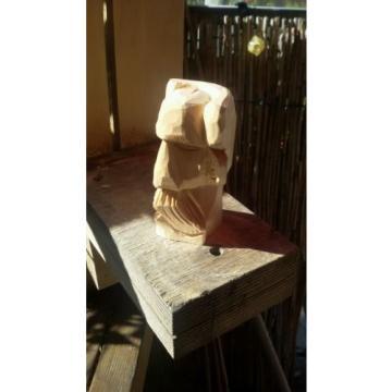 Wikinger Gesicht Holzfigur Hand geschnitzt aus Linde Schnitzholz