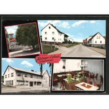 tolle AK Büdingen-Calbach, Gasthaus zur Linde, Straßenpartie, Ortsansicht