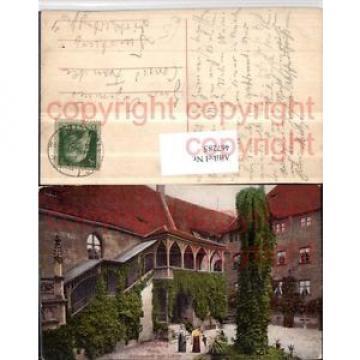 467285,Nürnberg Burg Schlosshof m. Linde