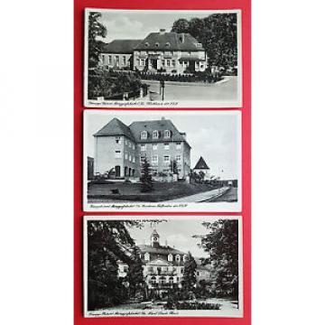3 x AK BERGGIEßHÜBEL Klubhaus, Kurheim Talfrieden und Paul Linde Haus   ( 16399