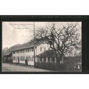 tolle AK Dobel, Gasthaus zur Linde 1917