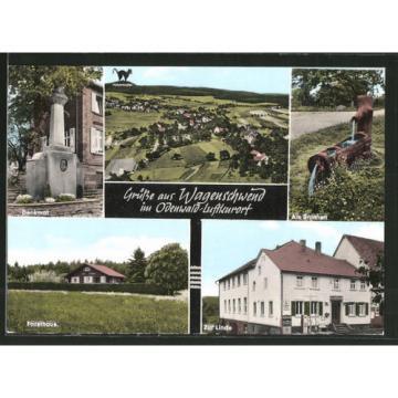 AK Wagenschwend, Totalansicht, Gasthaus u. Pension Zur Linde Forsthaus & Denkma