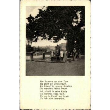 ALLENDORF Werra Hessen AK ~1920 Familie ad. alten Linde Baum mit Text Gedicht