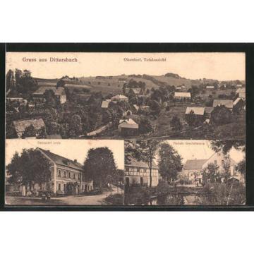 tolle AK Dittersbach, Merkels Geschäftshaus, Restaurant Linde