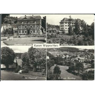 Ansichtskarte Wippra/Harz - Gasthaus Linde, Ehrenmal, Kinderheilstätte, Brauberg