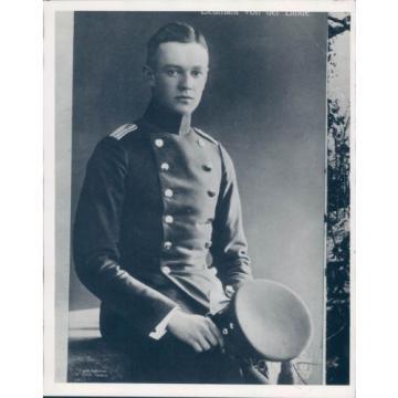1932 Photo Lieutenant Vonder Linde Berlin Military Uniform Young Solemn Face
