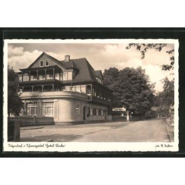 alte AK Sitzendorf, Straßenpartie am Hotel Zur Linde 1941