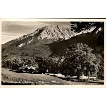 Ramsau Bayern Oberbayern ~1940 Deutsche Alpenstraße Hindenburg-Linde Baum