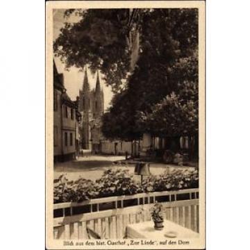 Ak Geisenheim am Rhein Hessen, Blick auf Dom vom Gasthof Zur Linde - 1611089