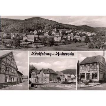 Wolfsburg Unkeroda Ansicht, Gasthaus zur Linde,   Konsum-Verkaufstelle 1977