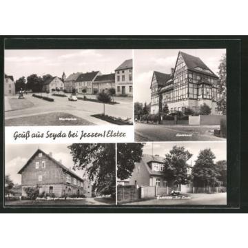 AK Seyda, Gaststätte Zur Linde, Kirchl. Pflege- und Altersheim, Marktplatz, Amt