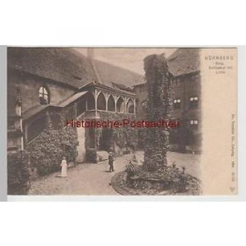 (65797) AK Nürnberg, Burg, Schlosshof mit Linde, um 1905