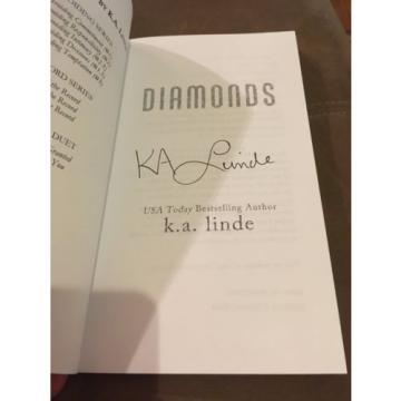 Diamonds by K.A. Linde (2015, Paperback, Signed)