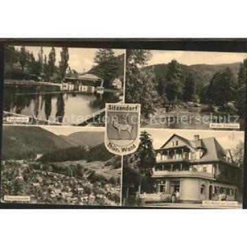 41462097 Sitzendorf Thueringen An der SChwarza Badeanstalt HO-Hotel Zur Linde Si