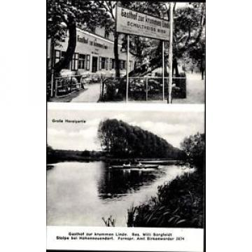 Ak Stolpe Hohen Neuendorf, Gasthof zur krummen Linde, Willi Borgfeldt - 951705