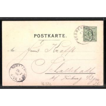 Lithographie Herrenalb, Hotel & Pension zur Post Ochsen, Villa zur Linde 1897