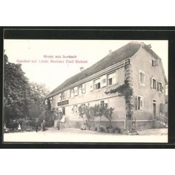 alte AK Durbach, Gasthof zur Linde, Besitzer E. Siebert