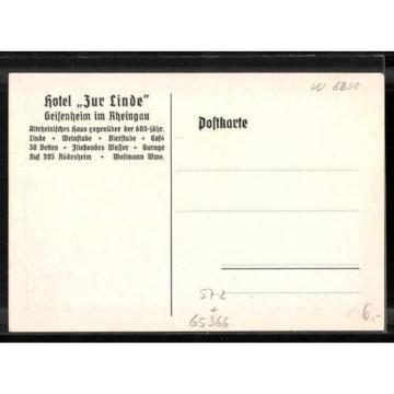 AK Geisenheim, Partie an der Geisenheimer Linde mit Blick auf das Hotel zur Lin