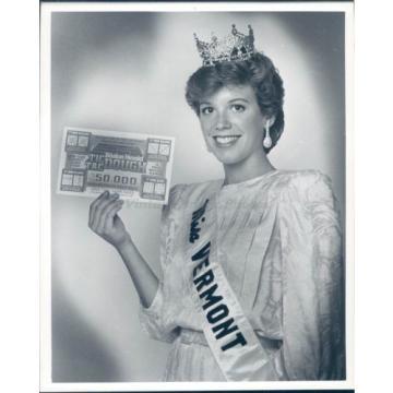 1985 Photo Miss Vermont Beauty Pageant Erica Vander Linde Tic Tac Dough America