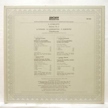 PAUL SACHER, HM LINDE - SCARLATTI sinfonia no.2 ARCHIV LP EX++