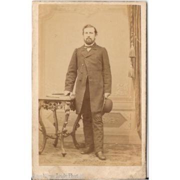 Herm. Linde CDV photo Feiner Herr - Lübeck um 1870