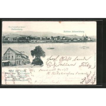 alte AK Geisenheim, Schloß Johannisberg, Hotel zur Linde 1900