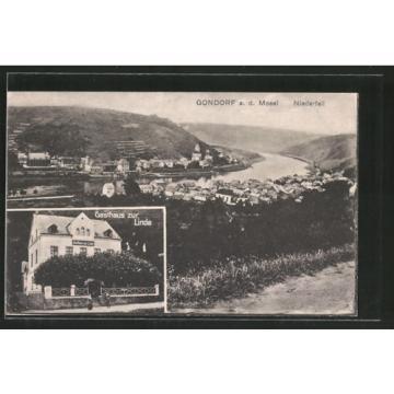 tolle AK Gondorf, Gasthaus zur Linde, Ortsansicht mit Mosel