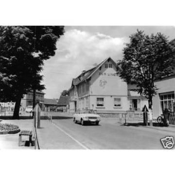 """AK, Wernshausen Werra, Straßenpartie mit Gasthaus  """"Zur Linde"""", 1974"""