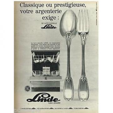 Publicité Advertising 1970 Le Lave Vaisselle Linde