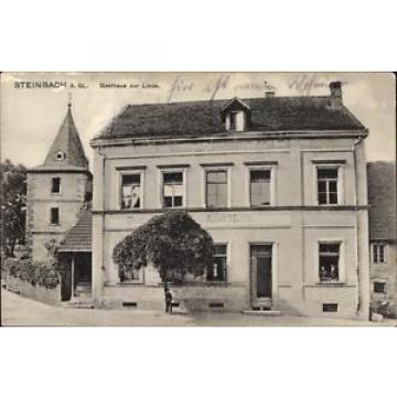 Ak Steinbach am Glan, Gasthaus zur Linde, Inh. Adolf Harth  - 10066429