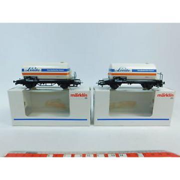 AW783-0,5# 2x Märklin/Marklin H0/AC 44510 Vagone cisterna/Carro merci Linde DB