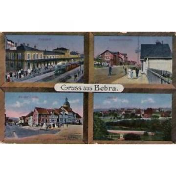 Berbra, Bahnhof-An der Linde-Bahnhofstraße, Ak von 1918