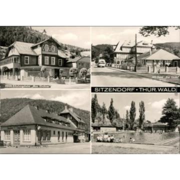 Sitzendorf FDGB-Erholungsheim, HO-Hotel zur Linde, Bahnhof, Freibad 1972