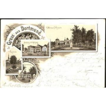 40488428 Dortmund Dortmund Fredenbaum Marktplatz Rathaus Linde Kronenburg x 1894