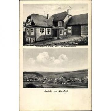 Ak Altenfeld Thüringer Wald, Restaurant zur Linde, Inh. C.W. Max... - 1406584