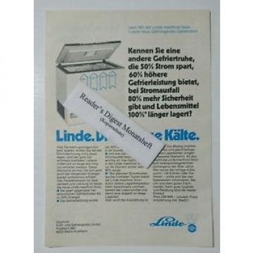 Werbeanzeige/advertisement A5: Linde maxifrost 3000 Gefriertruhe 1980(041016159)