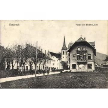 Ak Nordrach Schwarzwald, Partie im Ort mit Blick zum Hotel Linde,... - 10059327