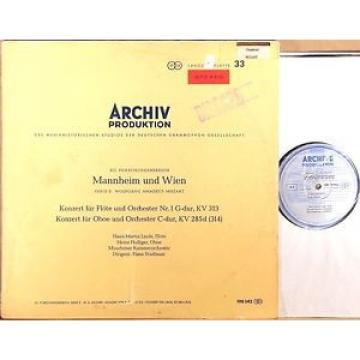 ARCHIV RED STEREO ED1 Mozart LINDE Flute HOLLIGER Oboe STADLMAIR SLPM 198 342